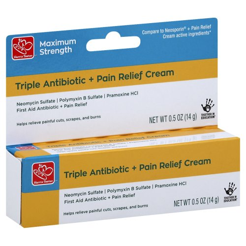 Harris Teeter Max Strength Triple Antibiotic + Pain Relief Cream 0 50 oz