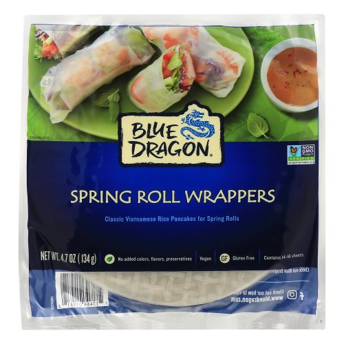 Blue Dragon Vietmanese Spring Roll Wrappers 4 70 Oz Harris