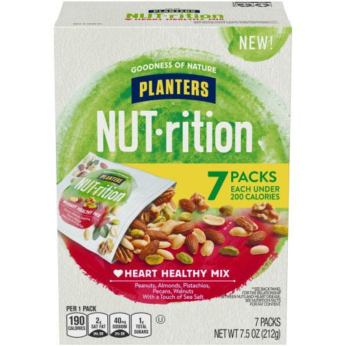 Planters Nut-rition Nutrition Healthy Mix 5.00 each Harris Teeter on planters peanuts nutrition information, planters cashews nutrition, planters honey roasted peanuts nutrition, planters whole cashews, planters cocktail peanuts nutrition, planters salted peanuts nutrition,