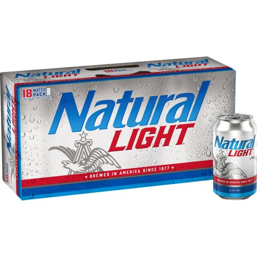 Natural Light Beer 18 Pack Cans