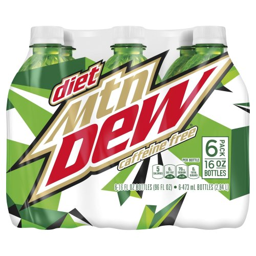 Diet Mountain Dew Caffeine Free Soda - 6 Pack Plastic Bottles 96.00 fl oz Harris Teeter