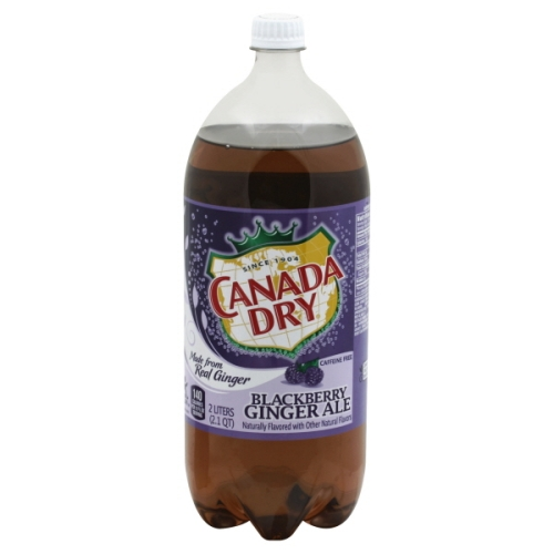 Canada Dry Blackberry Ginger Ale Single Bottle 6760 Fl Oz Harris