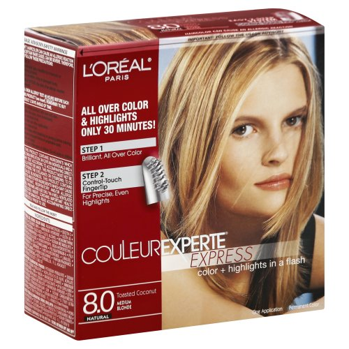 L'Oreal Paris Couleur Experte Express Toasted Coconut 8.0 Natural Hair Color 1.00 ct