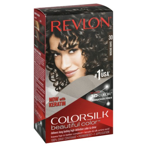 9fa6e1db33d Revlon ColorSilk Beautiful Color Permanent 30 Dark Brown 1.00 ct ...
