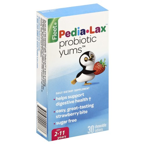 Fleet Pedia Lax Probiotic Yums Strawberry Chewable Table