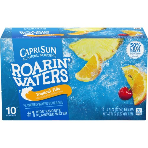 Tropical Fruit Flavor Water Beverage - 10 Pouches