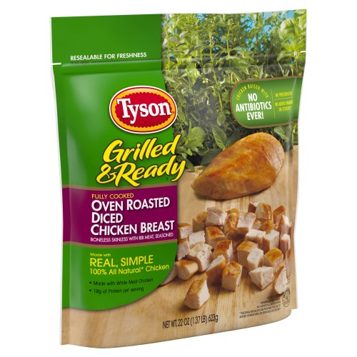 Tyson Grilled & Ready Oven Roasted Diced Chicken Breast 22 ...