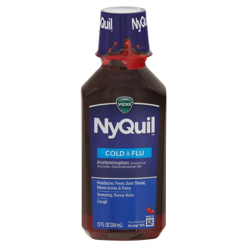 Vicks NyQuil Cold & Flu Nighttime Relief 12.00 Oz Harris