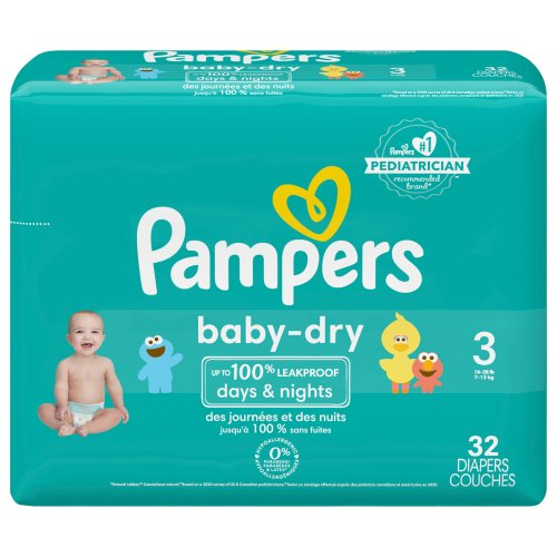 pampers baby dry diapers size 3 ct harris teeter. Black Bedroom Furniture Sets. Home Design Ideas
