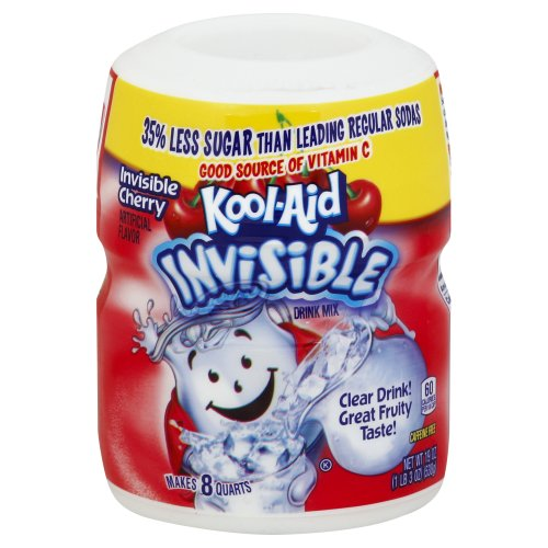 Kool-Aid Sugar Sweetened Soft Drink Mix - Invisible Cherry 19 00 oz