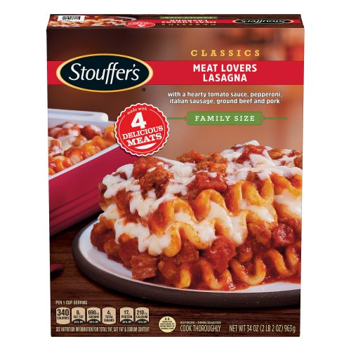 stouffers family size meat lovers lasagna 3800 oz harris