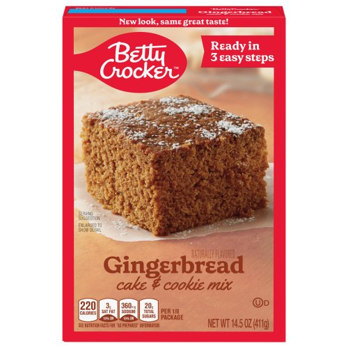 Ingredients In Betty Crocker Gingerbread Cake And Cookie Mix