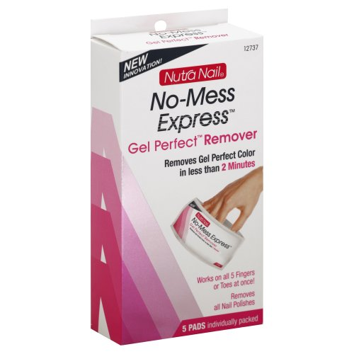 Nutra Nail No Mess Express Gel Polish Remover Pads 1.00 Ct